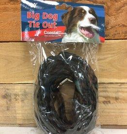 Coastal Pet Products Coastal Poly Tie-Out 3/8X20' Black