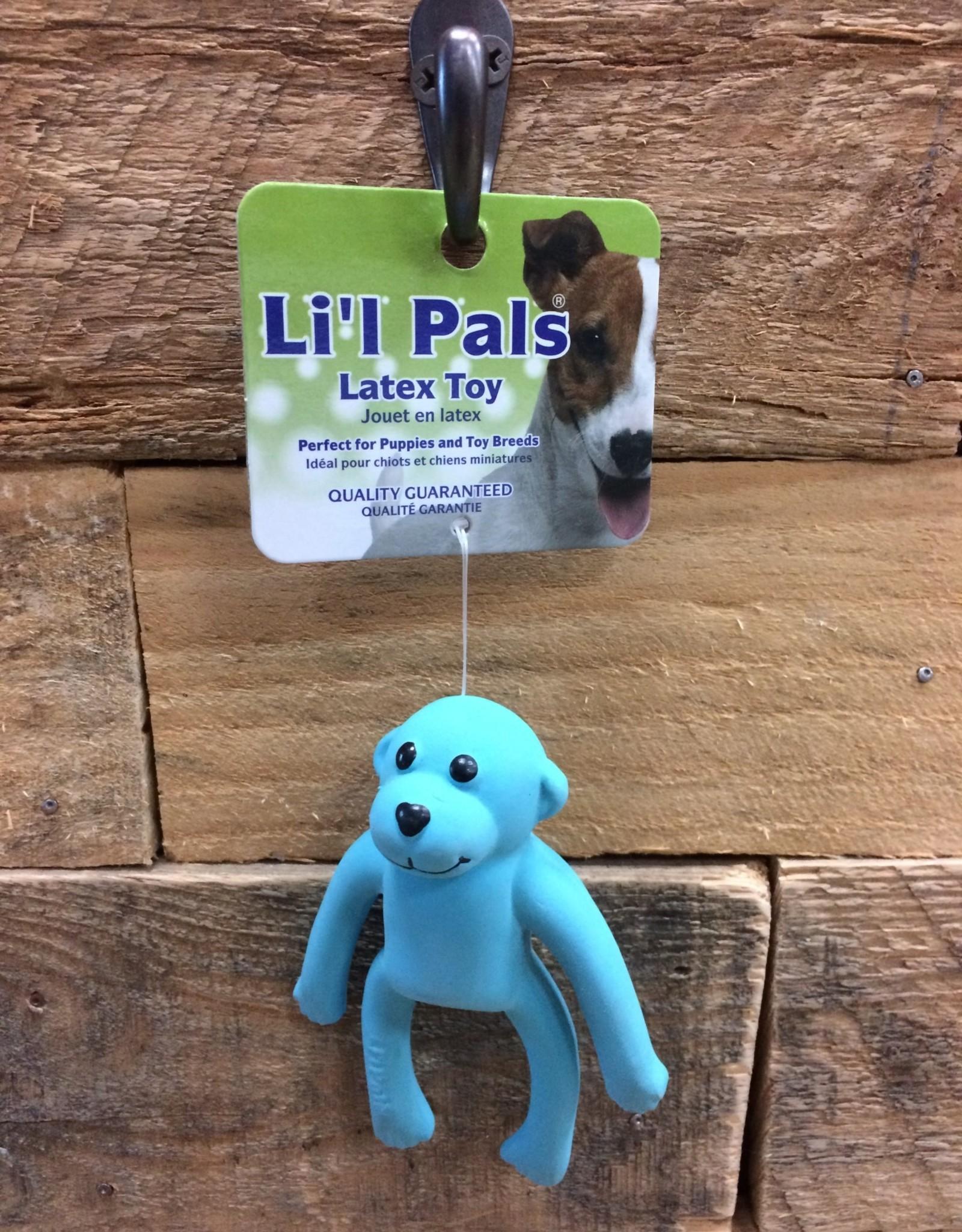 """Coastal Pet Products Coastal Li'l Pals 4"""" Latex Monkey Blue"""