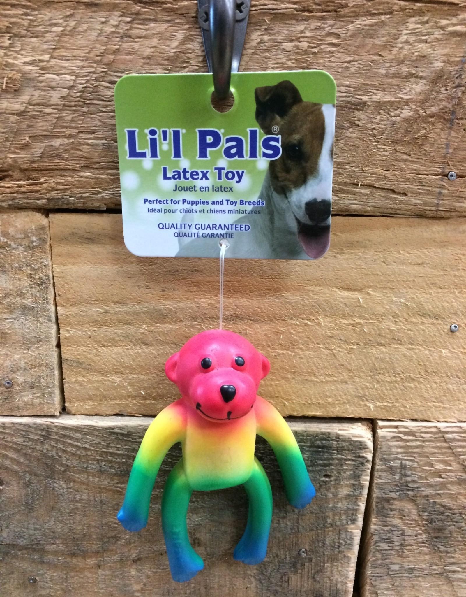 """Coastal Pet Products Coastal Li'l Pals 4"""" Latex Monkey Multi"""