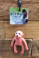 "Coastal Pet Products Coastal Li'l Pals 4"" Latex Monkey Pink"