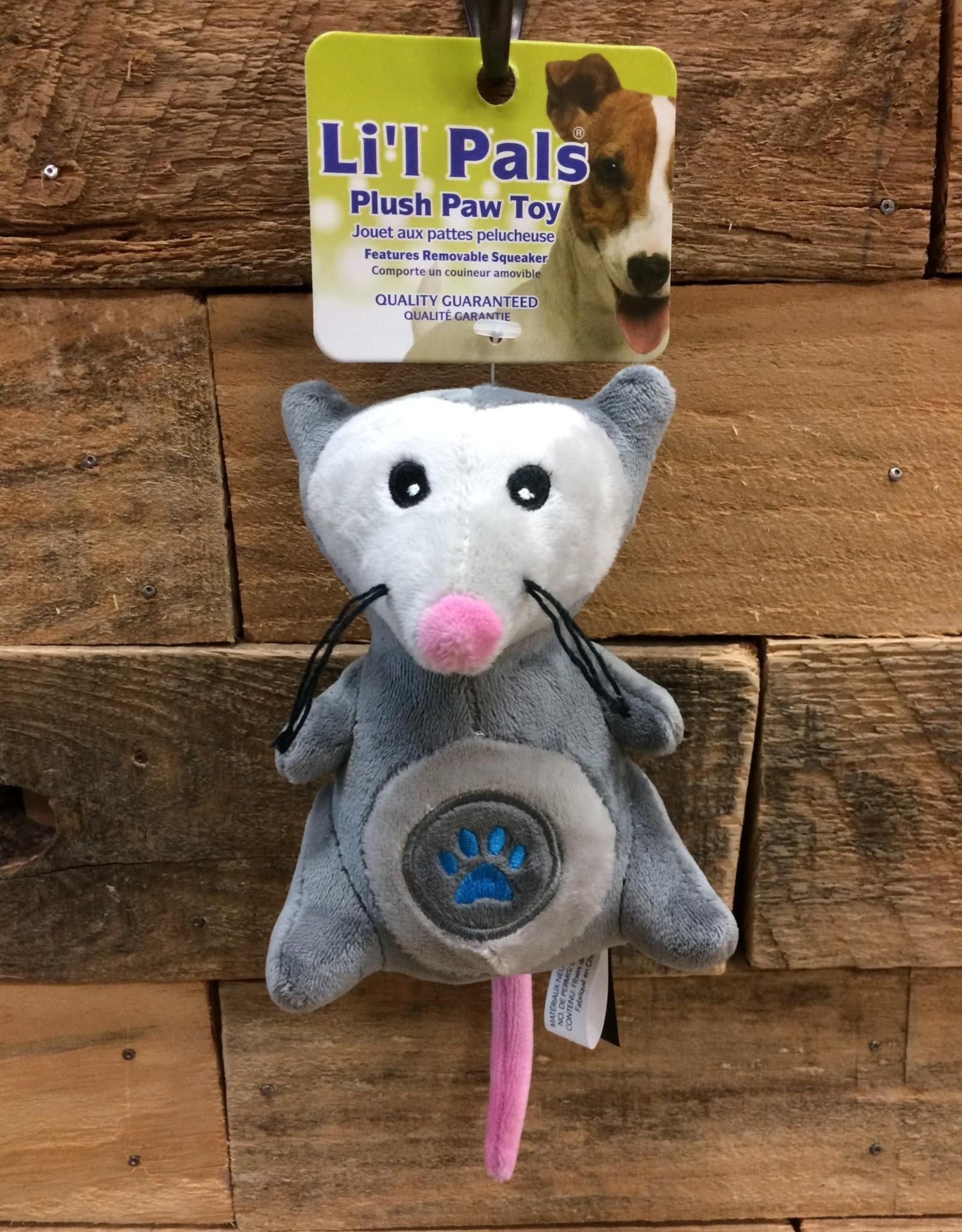 """Coastal Pet Products Coastal Li'l Pals 5"""" Soft plush paw opossum"""