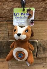 """Coastal Pet Products Coastal Li'l Pals 5"""" Soft plush paw squirrel"""