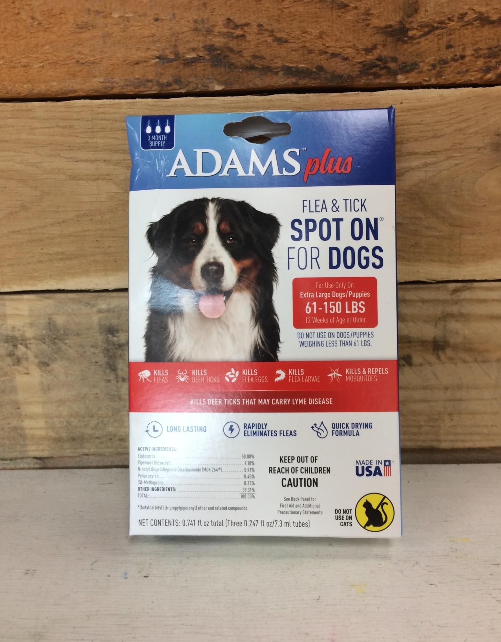 Central Life Sciences- Adams Adams Plus Flea & Tick Spot On Dog XL 3 Month