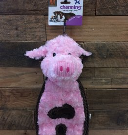 Outward Hound - Charming Pet Charming Pet Cuddle Tugs Peachy Pig