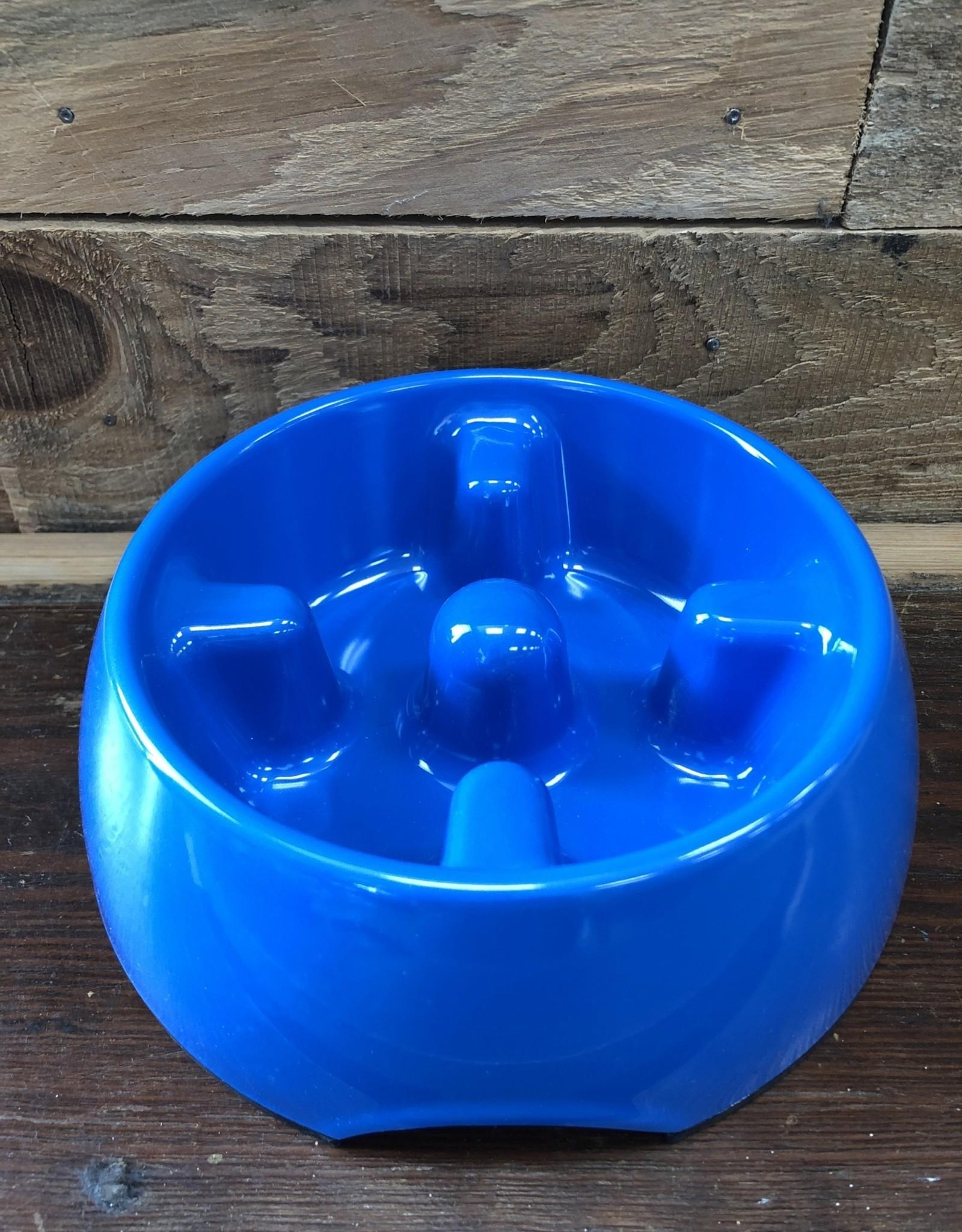 Hagen Dogit Go Slow Anti-Gulping Bowl, Blue, Small
