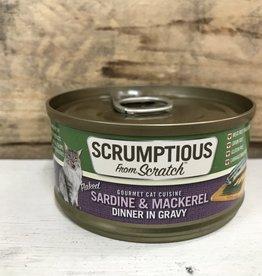 Scrumptious SCRUMPTIOUS CAT SARDINE & MACKEREL GRAVY 2.8OZ