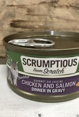 Scrumptious SCRUMPTIOUS CAT CHICKEN & SLAMON GRAVY 2.8OZ