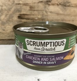 Scrumptious SCRUMPTIOUS CAT CHICKEN & SLAMON GRAVY 2.8OZ