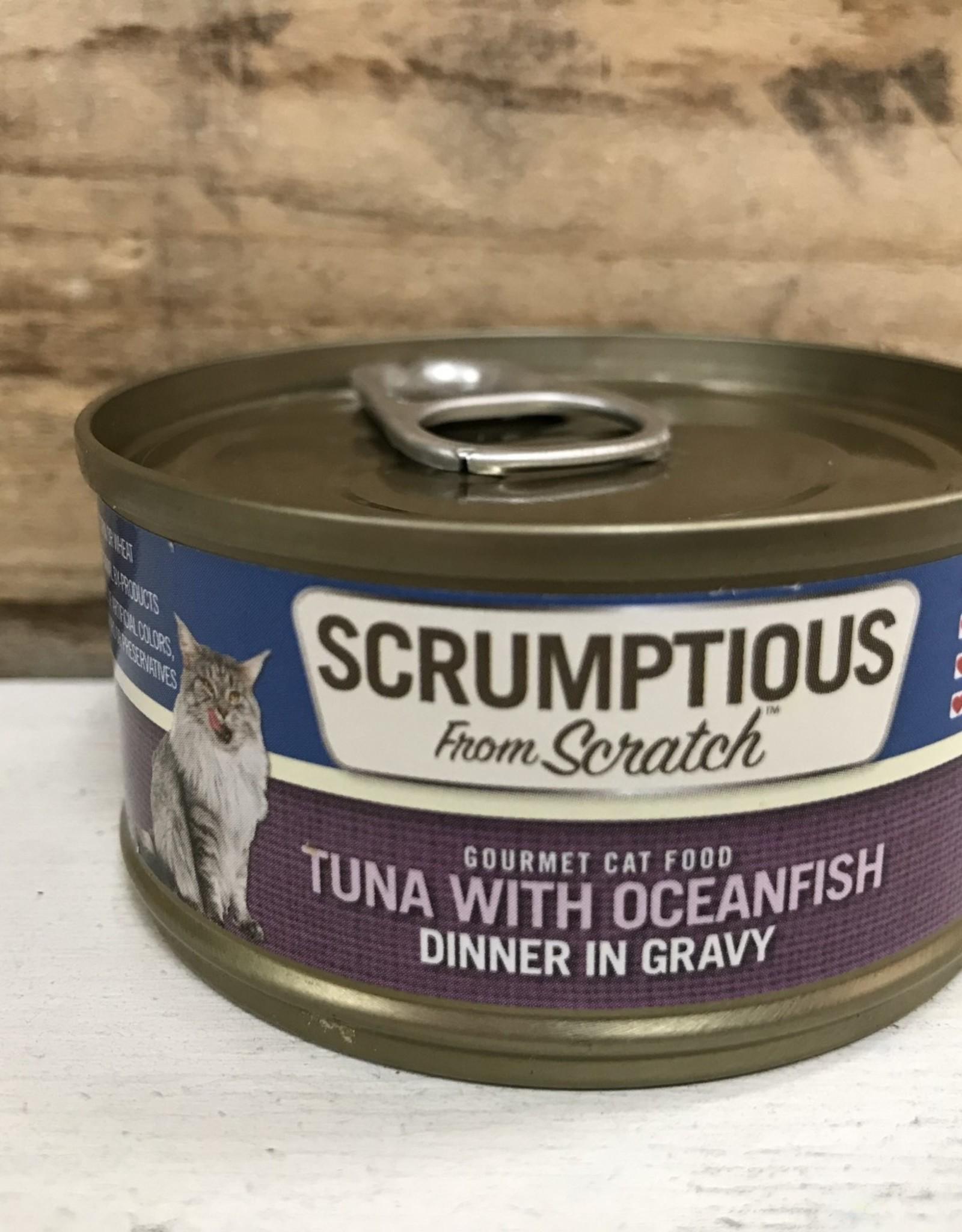 Scrumptious SCRUMPTIOUS CAT TUNA & OCEAN FISH 2.8OZ