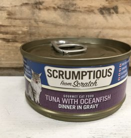 Scrumptious SCRUMPTIOUS CAT TUNA & OCEAN FISH 2.8OZ