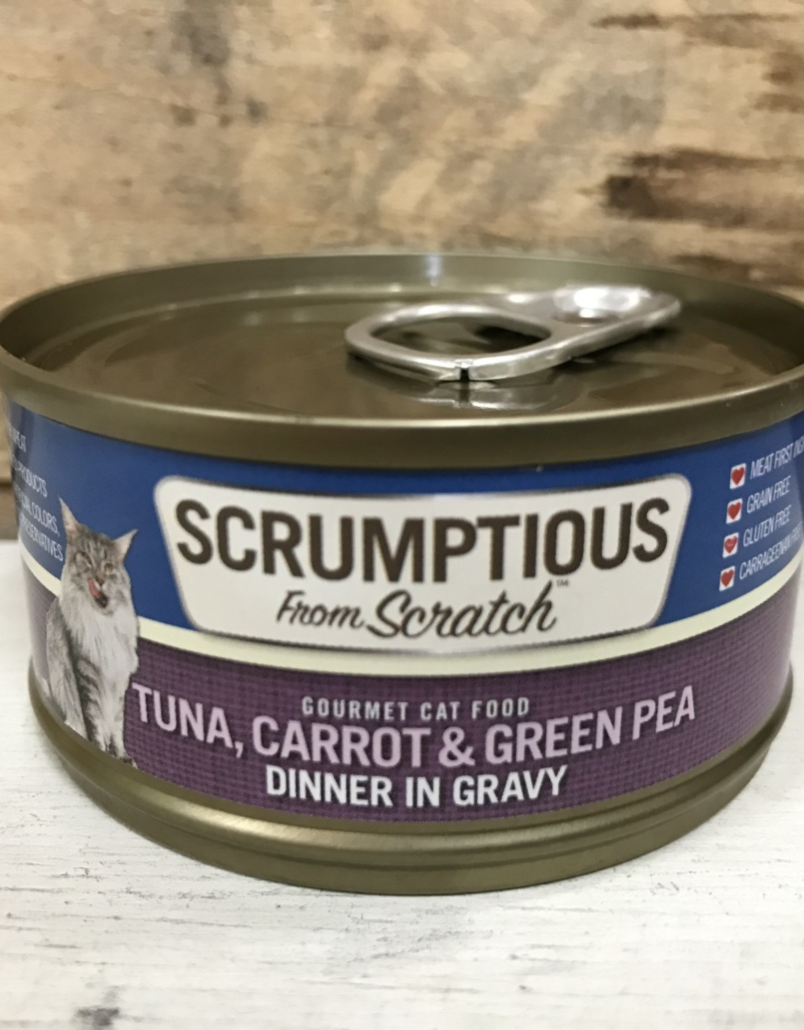 Scrumptious SCRUMPTIOUS CAT TUNA CARROTS & PEAS GRAVY 2.8OZ