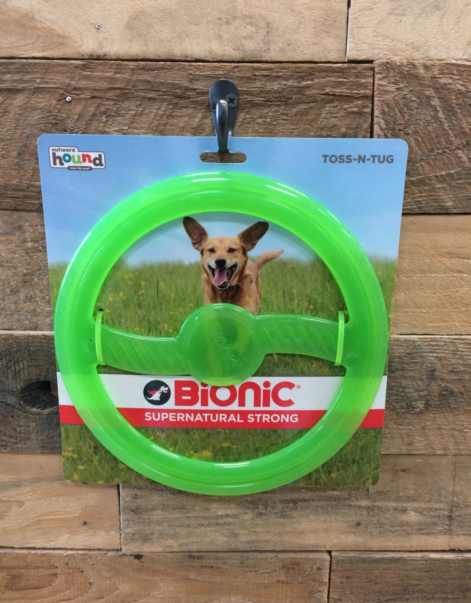 Outward Hound - Bionic Bionic Toss and tug green