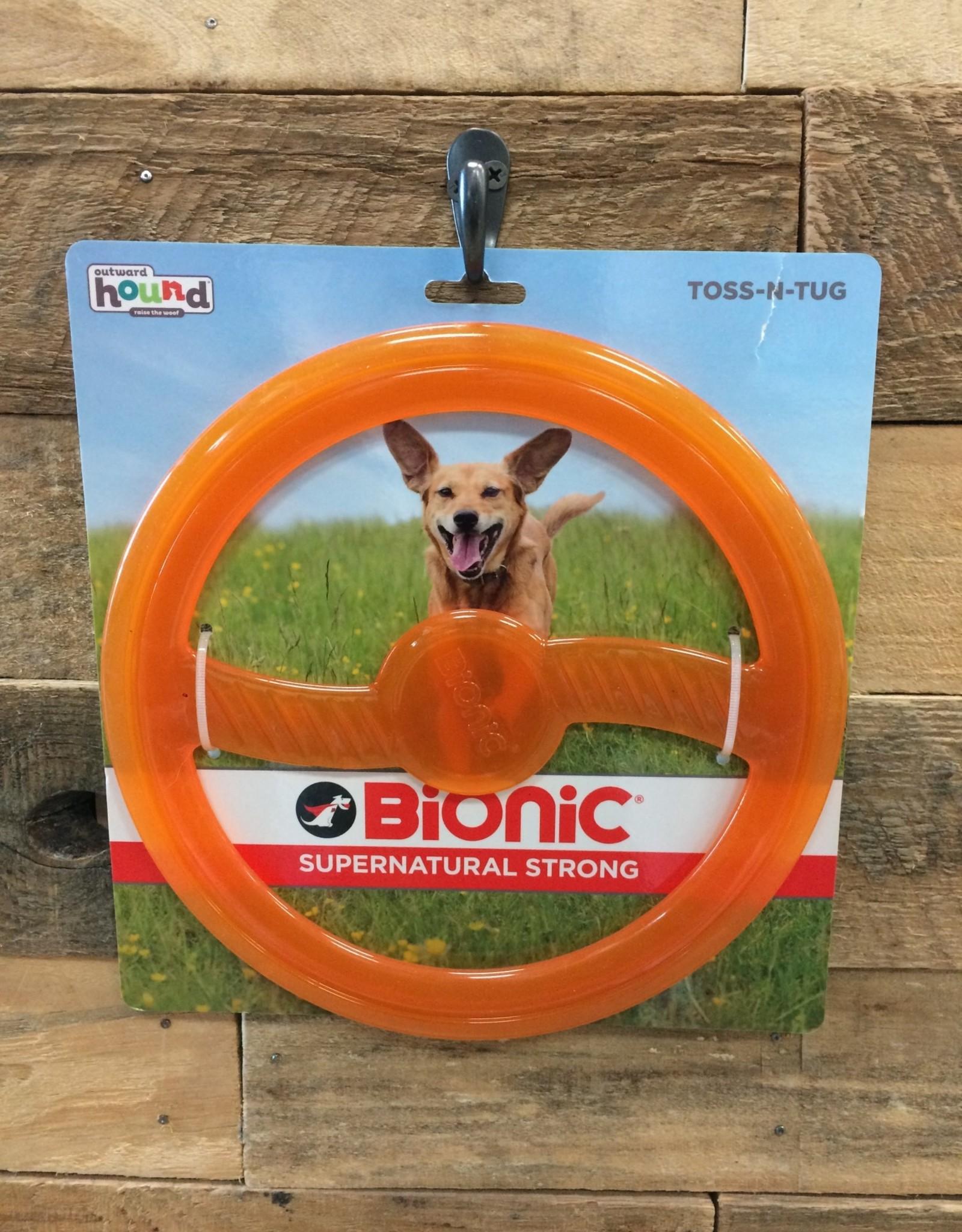 Outward Hound - Bionic Bionic Toss and tug orange