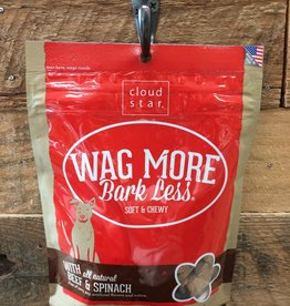 Cloud Star Cloud star Wag More chewy Beef & spinach 6 oz