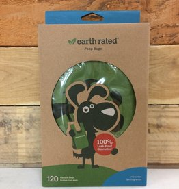 Earth rated bio unscented 120 handle poop bags