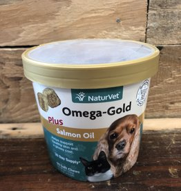 Naturvet OMEGA GOLD PLUS SALMON OIL - SOFT CHEW CUP 90ct