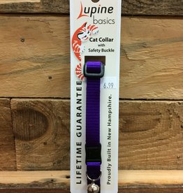 """Lupine Basic Cat 1/2"""" - 8-12"""" w/bell adjustable safety collar"""