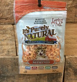 Loving Pets purrfectly natural freeze dried shrimp .5oz