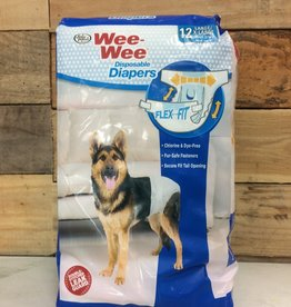 FOUR PAWS 12 PK. LG/XL WEE-WEE DISPOSABLE DOG DIAPERS