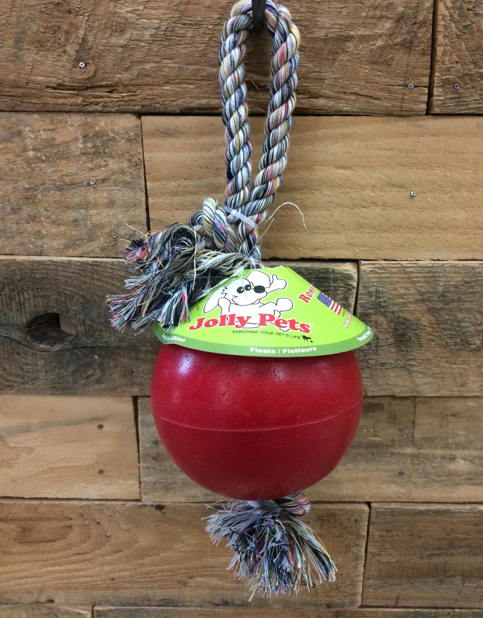 "JOLLY PETS ROMP-N-ROLL JOLLY BALL - RED 4.5"""