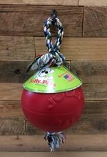 "JOLLY PETS ROMP-N-ROLL JOLLY BALL - RED 8"""