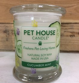 One Fur All One Fur All Candle Glass Jar-cucumber mint 8.5oz