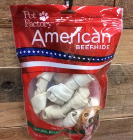 PET FACTORY Pet Factory American VALUE BEEFHIDE ROLLS  -  8/8-9 IN.