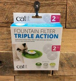 Hagen Catit 2.0 Triple Action Wtr Softener 2pk