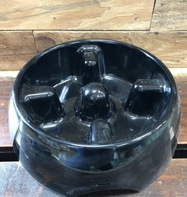 Hagen Dogit Go Slow Anti-Gulping Bowl, Black, Large