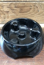 Hagen Dogit Go Slow Anti-Gulping Bowl, Black, X-Small