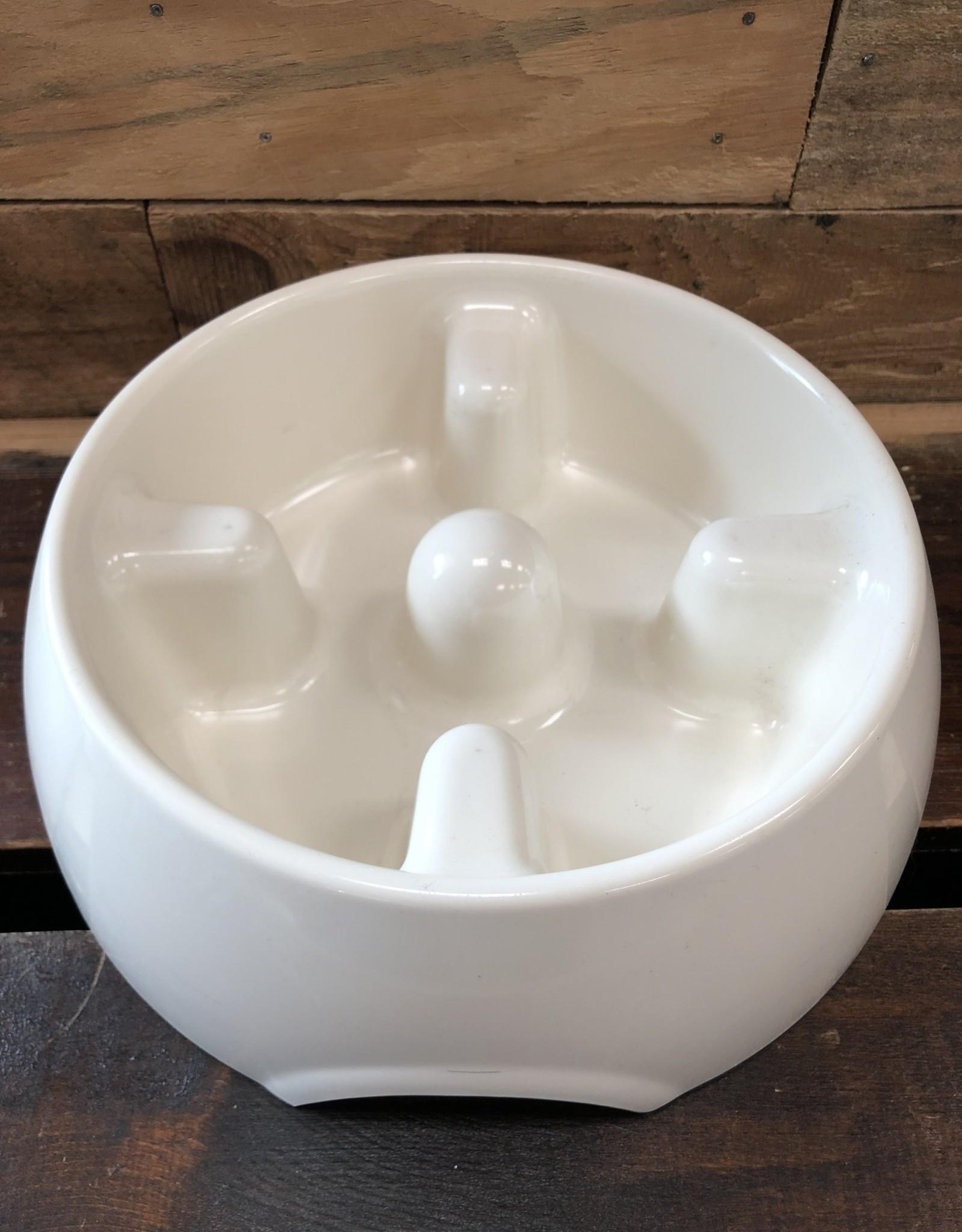 Hagen Dogit Go Slow Anti-Gulping Bowl, White Large