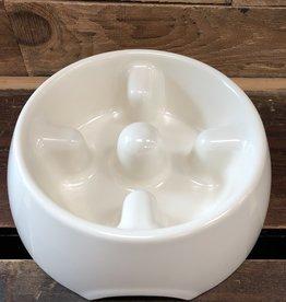 Hagen Dogit Go Slow Anti-Gulping Bowl, White, Medium