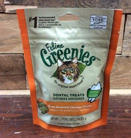 GREENIES Feline dental treat 2.1 oz oven roasted chicken