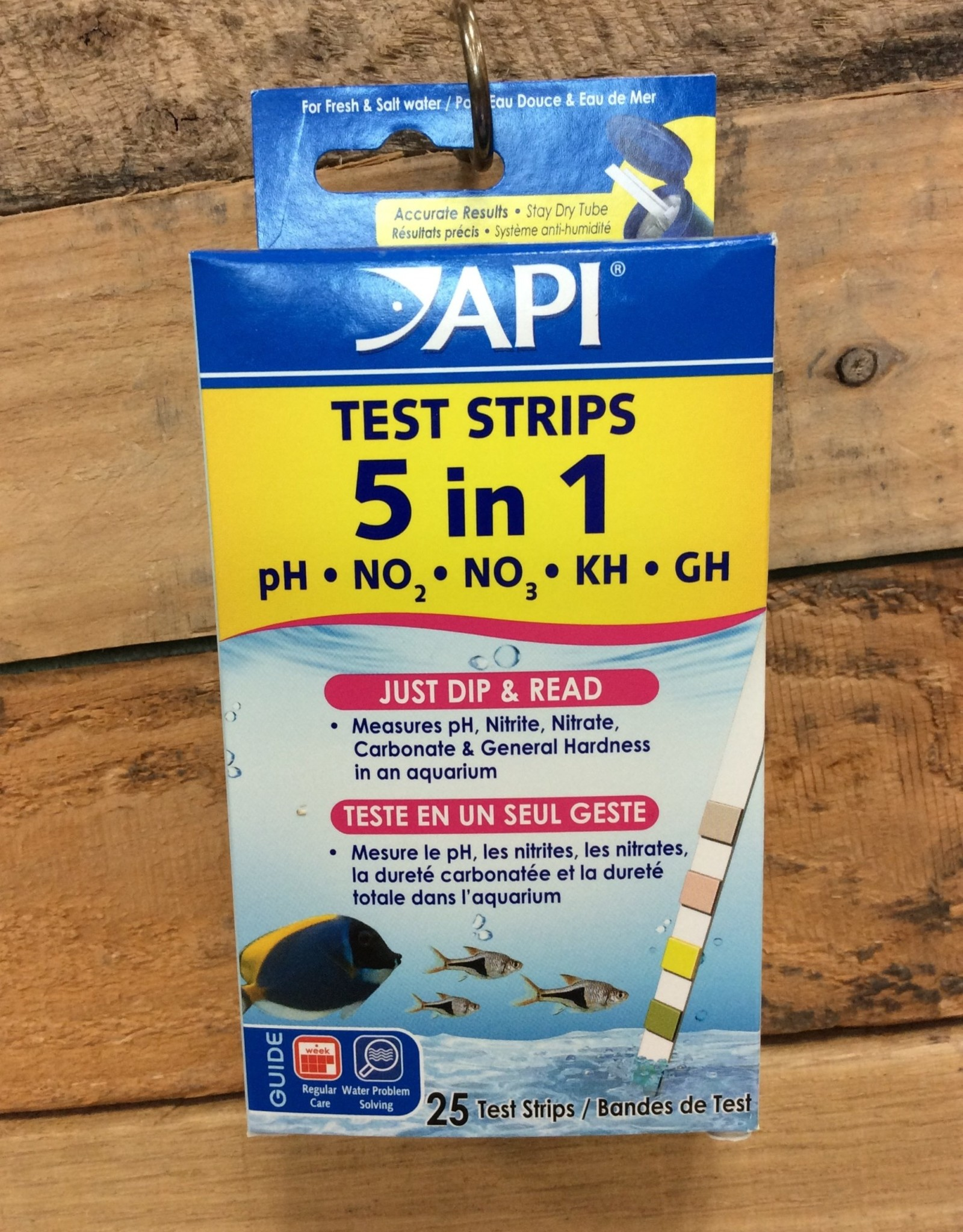 Api - Mars Fish Care API 25 CT. 5 IN 1 AQUARIUM TEST STRIPS