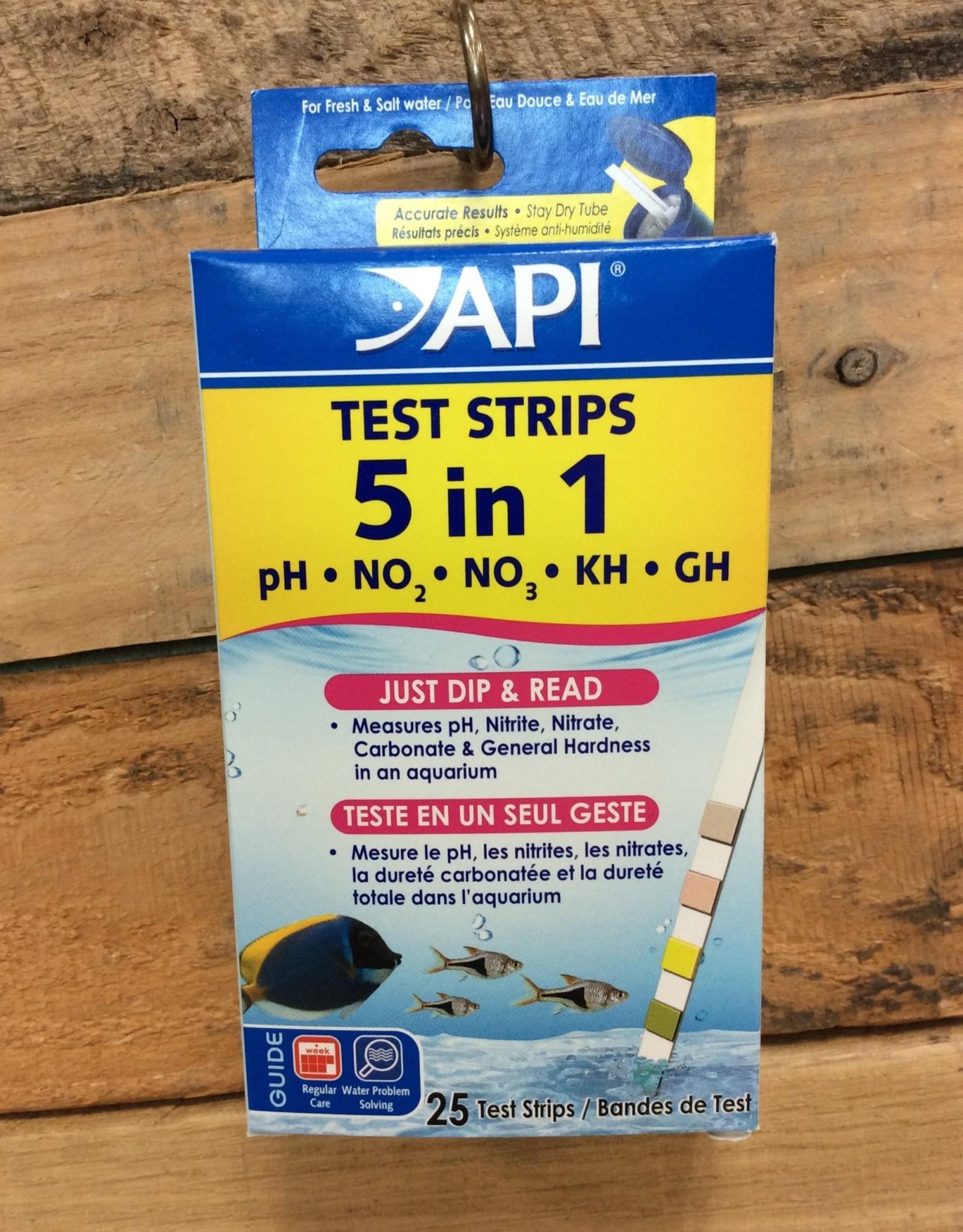Api - Mars Fish Care API Test Strip 5 in 1 - 25ct