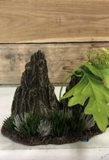 Hagen Marina Double Rock Crop w/Plants, Medium