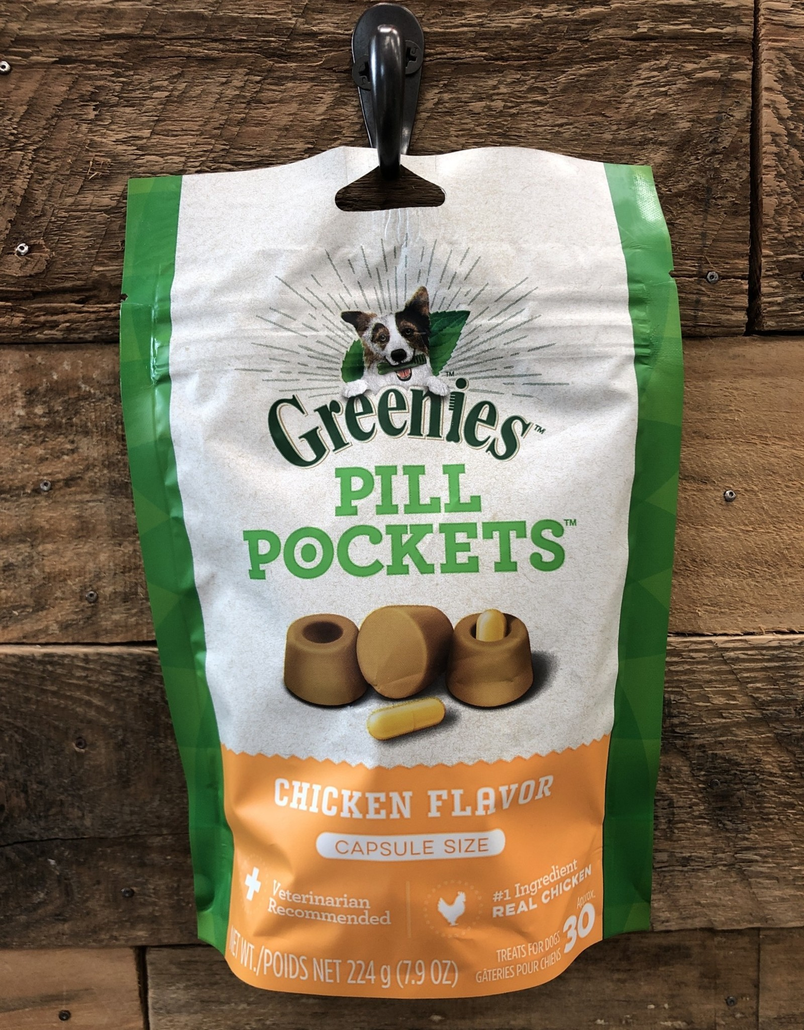 GREENIES PILL POCKETS CANINE CHICKEN - CAPSULE 7.9OZ