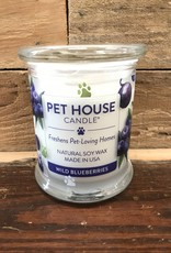 One Fur All Candle WILD BLUEBERRIES 8.5 OZ GLASS JAR