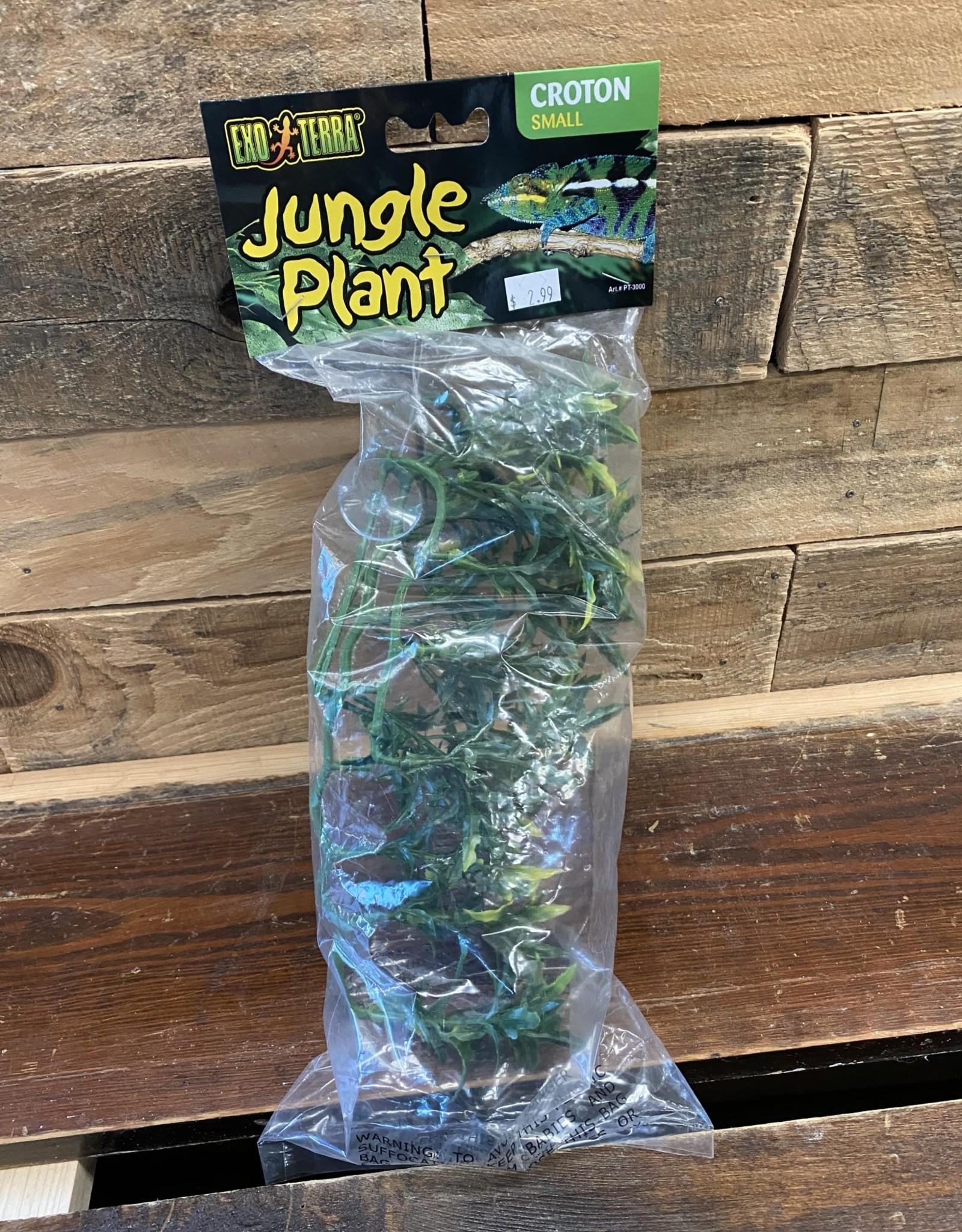"""Hagen Exo Terra Plastic Terrarium Plant, Small, """"Croton"""