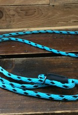 "Mendota Mendota Dog Walker 3/8"" X 6' - Black Ice Turquoise"