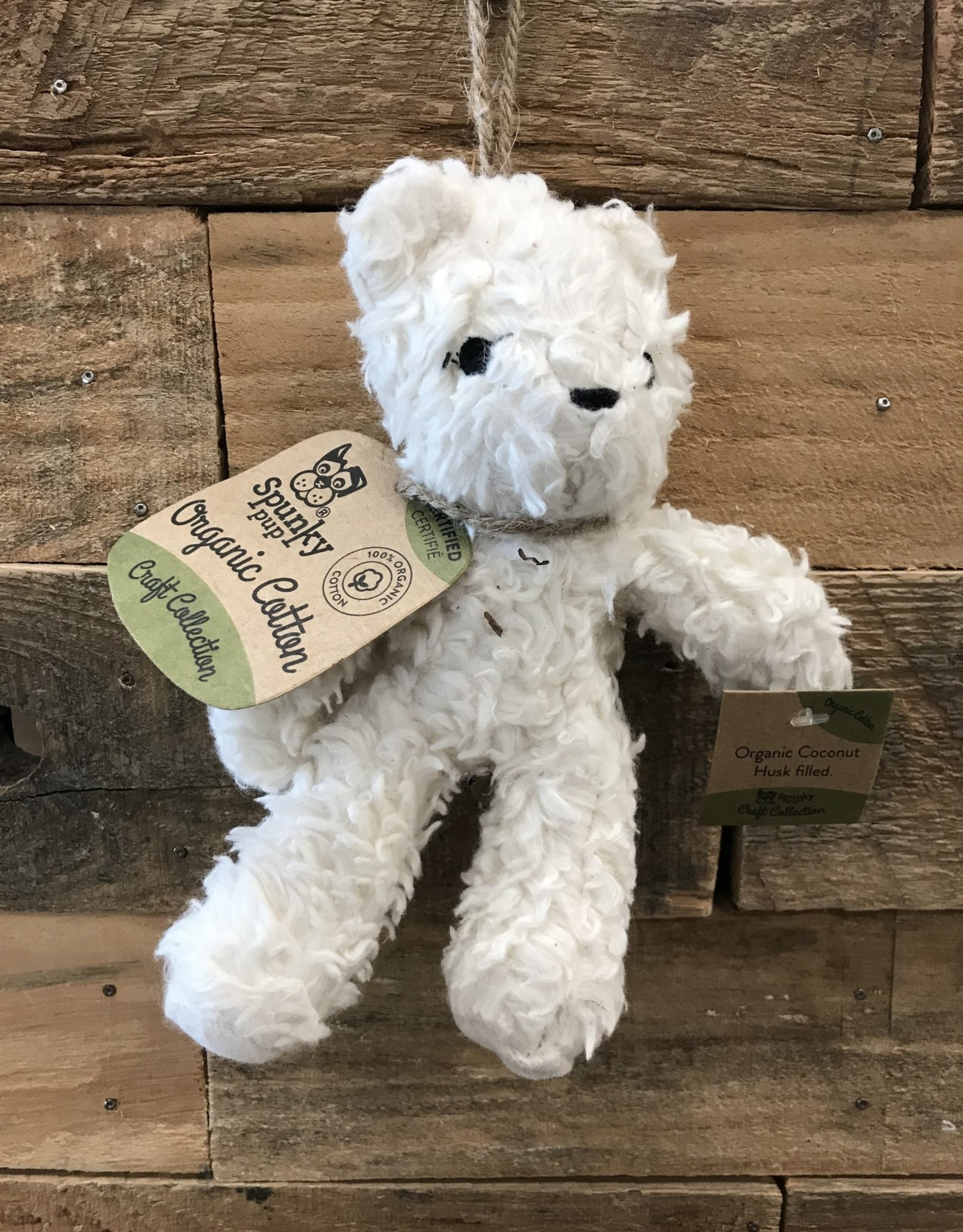 Spunky Pup Organic Cotton Bear - Assorted Small