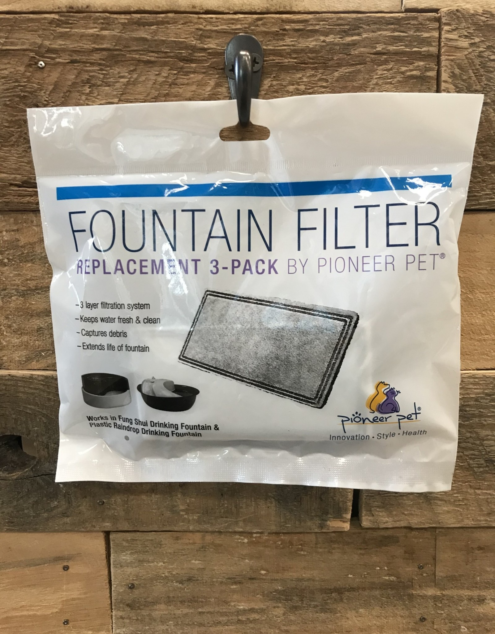 Smartcat 3 CT. FOUNTAIN FILTER REPLACEMENTS FOR PLASTIC FOUNTAINS