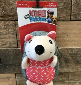 Kong Patches Cordz Hedgehog Dog Toy Red Small
