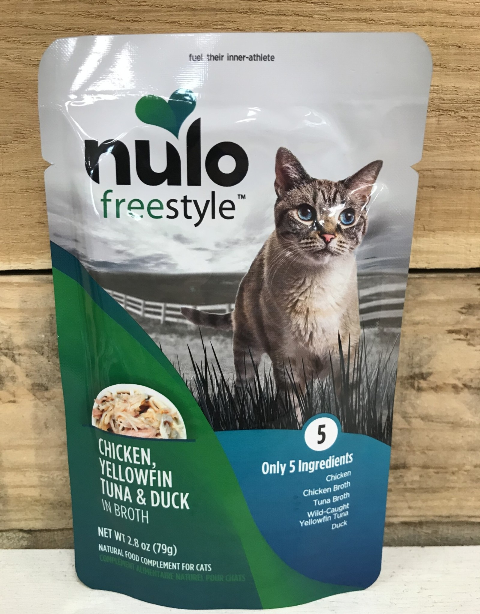 Nulo Nulo FreeStyle 2.8oz Grain Free Cat Chicken, Yellowfin Tuna & Duck pouch