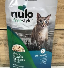 Nulo Nulo FreeStyle 2.8oz Grain Free Cat Chicken, Yellowfin Tuna & Duck pouch