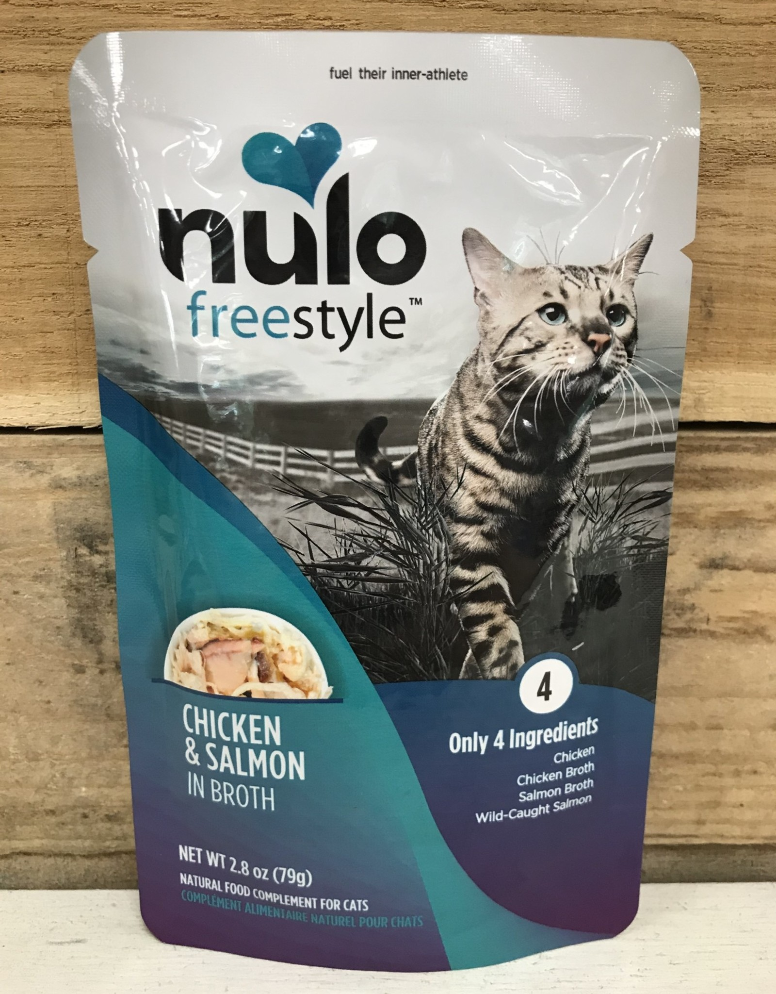 Nulo Nulo FreeStyle 2.8oz Grain Free Cat Chicken & Salmon pouch