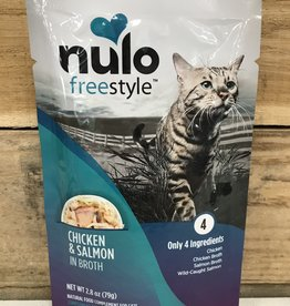 Nulo Nulo FreeStyle 2.8oz Grain Free Cat Chicken & Salmon pouch