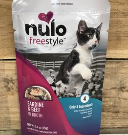 Nulo Nulo FreeStyle 2.8oz Grain Free Cat Sardine & Beef pouch