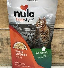 Nulo Nulo FreeStyle 2.8oz Grain Free Cat Chicken & Mackerel pouch