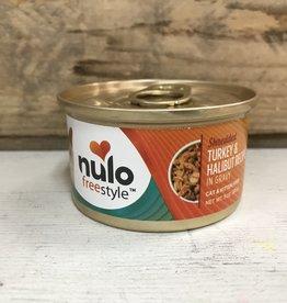 Nulo Nulo FreeStyle 3oz GF Cat Shredded Turkey & Halibut in Gravy can